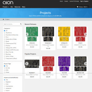 Aion FX - Projects Landing screenshot