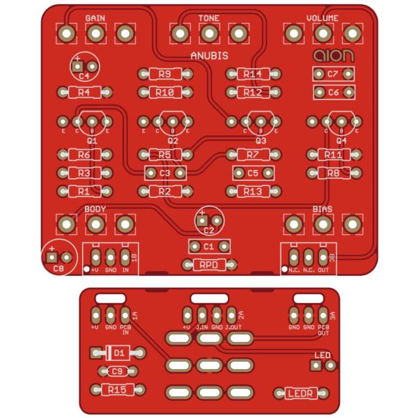 Anubis Silicon Fuzz - Basic Audio Scarab Deluxe PCB