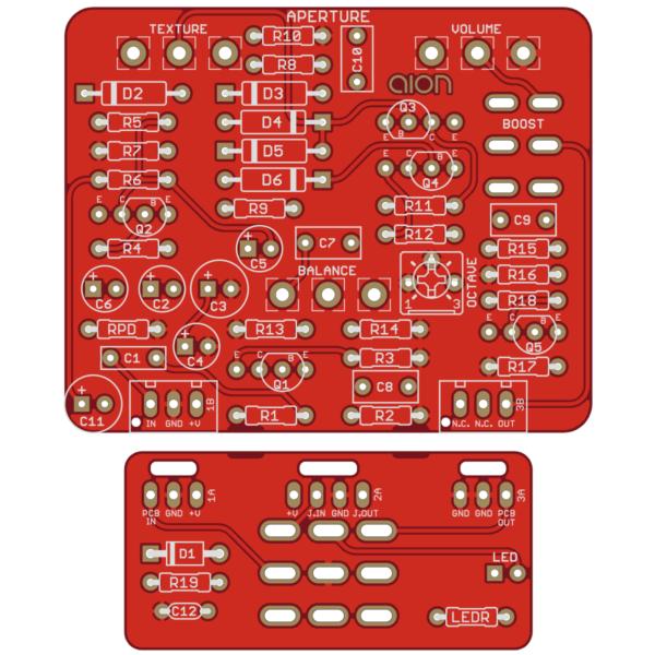 Aperture Octave Fuzz - Ampeg Scrambler PCB