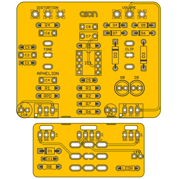 Aphelion Vintage Distortion PCB