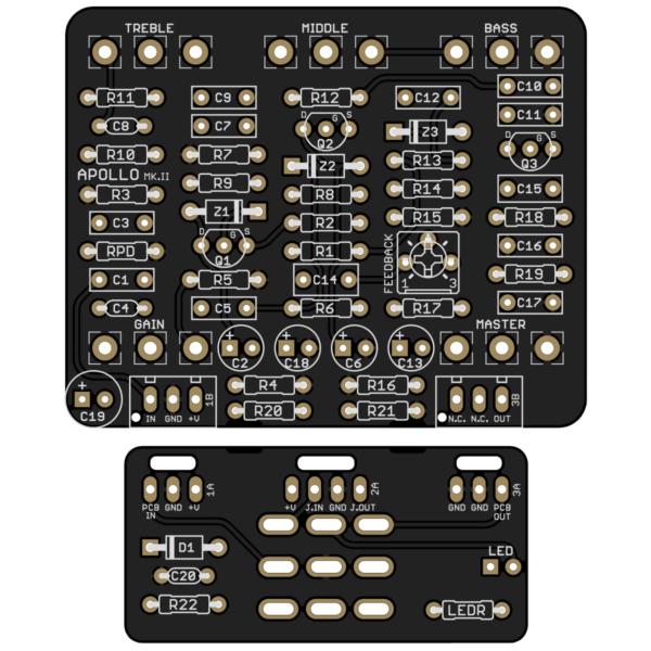 Apollo Mk. II Preamp Drive printed circuit board