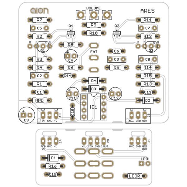 Ares Vintage Preamp printed circuit board