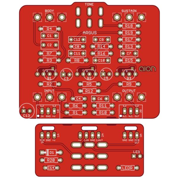 Argus Silicon Fuzz - Roland AD-50 Double Beat Fuzz PCB