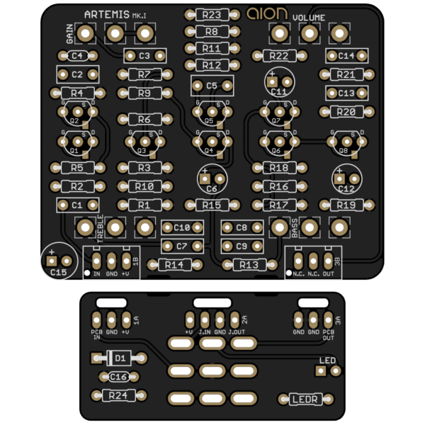 Artemis Mk. I Preamp Drive printed circuit board