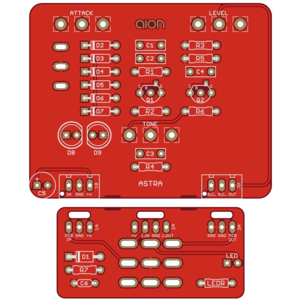 Astra Silicon Fuzz PCB