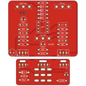 Atom Fuzz Drive PCB