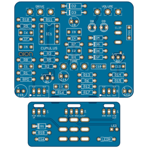 Cumulus Vintage Overdrive - Ibanez OD-855 Overdrive II PCB