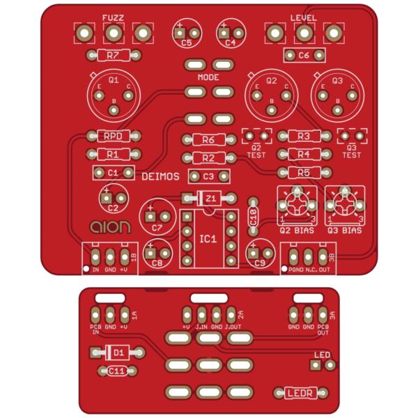Deimos Germanium Fuzz printed circuit board