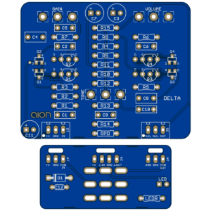 Delta Amp Overdrive PCB