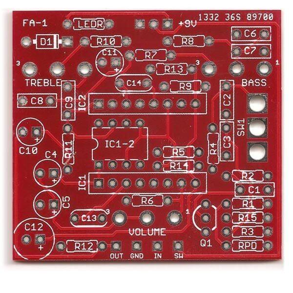 Prism / Boss FA-1 FET Amp DIY PCB