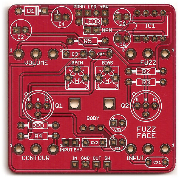 Solaris – Fuzz Face DIY PCB Project