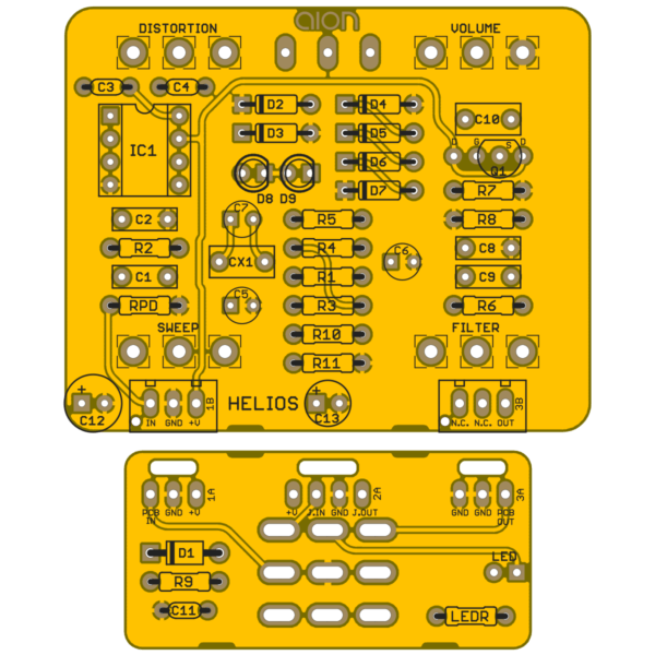 Helios Classic Distortion PCB