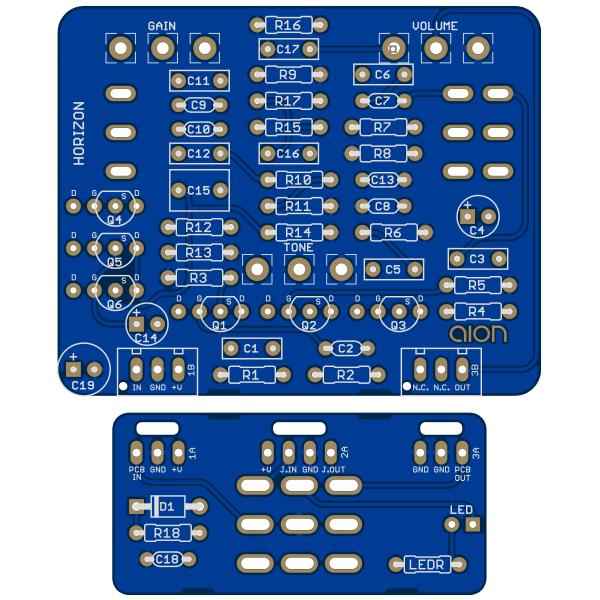 Horizon Amp Overdrive PCB