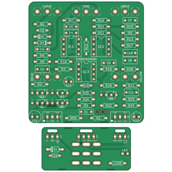Karkadann Dynamic Overdrive printed circuit board