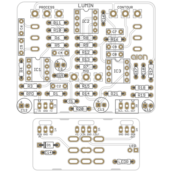 Lumin Sonic Enhancer printed circuit board