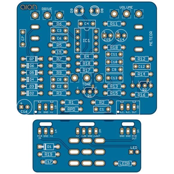 Meteor Vintage Distortion printed circuit board