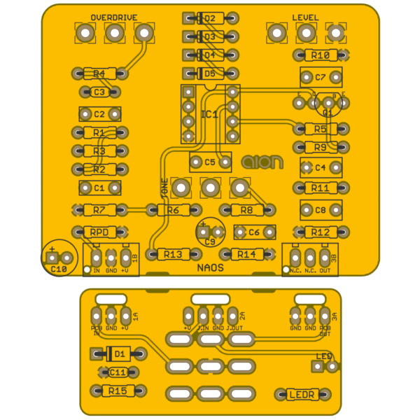 Naos Classic Overdrive printed circuit board