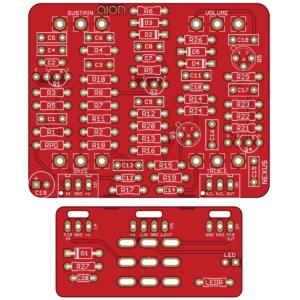 Nexus Distortion/Sustainer - Manx Loaghtan Fuzz PCB