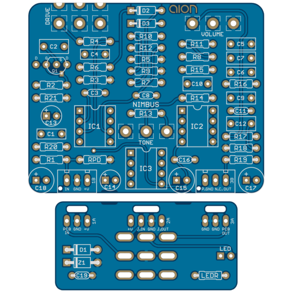 Nimbus Dynamic Overdrive printed circuit board