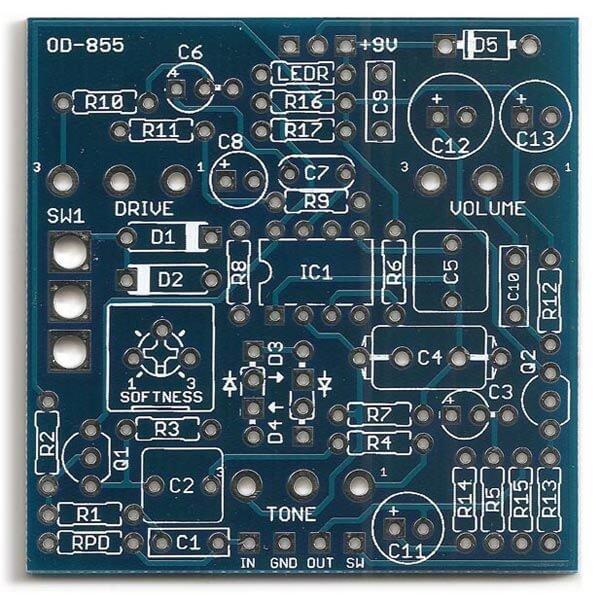 Cumulus / Ibanez OD-855 DIY PCB
