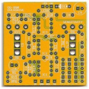Maxon OD-880 Overdrive Soft Distortion / Quark Overdrive PCB