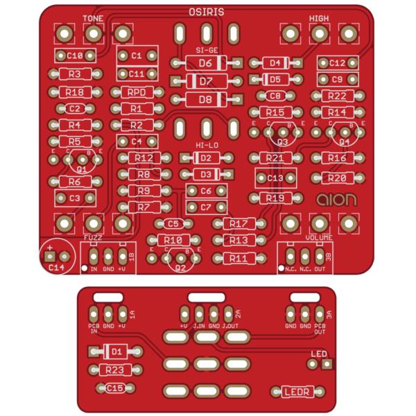 Osiris Distortion / Sustainer printed circuit board