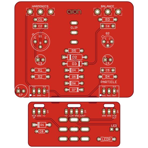 Particle Vintage Fuzz printed circuit board