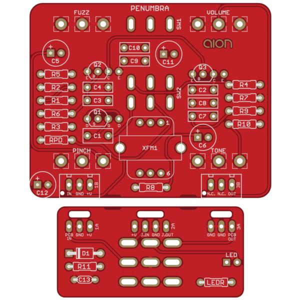 Penumbra Bass Fuzz printed circuit board