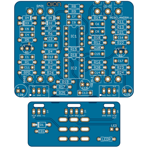 Perelandra Boost/Overdrive V2 PCB