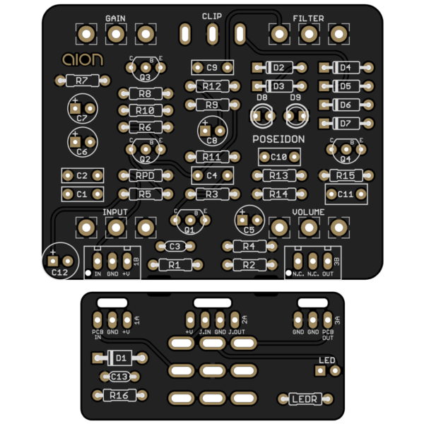 Poseidon Silicon Fuzz printed circuit board