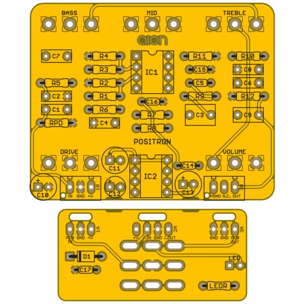 Positron Preamp Drive printed circuit board