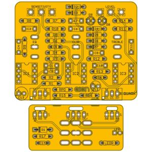 Quark Vintage Overdrive - Maxon OD-880 Overdrive/Soft Distortion PCB
