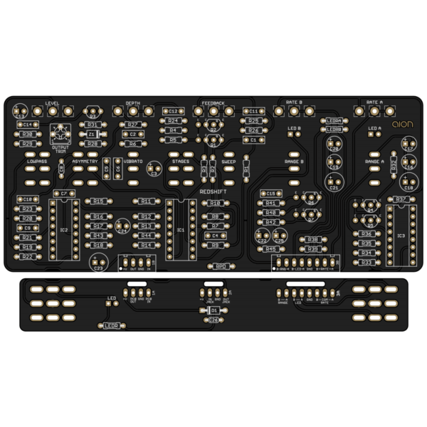 Redshift Deluxe Phaser PCB