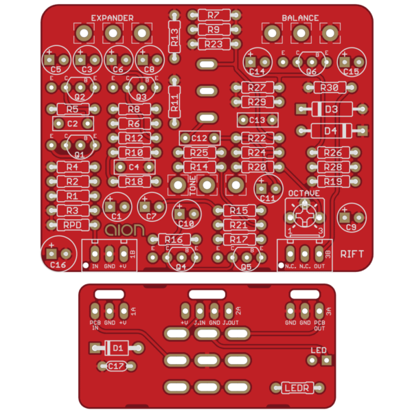 Rift - Univox Superfuzz PCB
