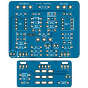 Stratosphere Classic Overdrive - Ibanez TS-808 Narrow Box PCB