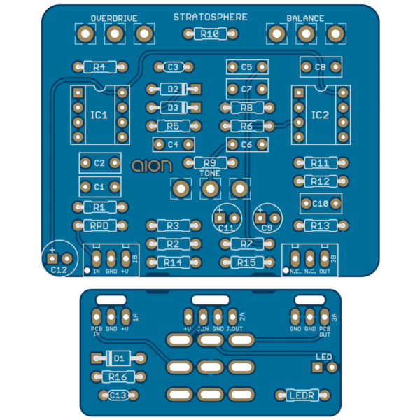 Stratosphere Classic Overdrive PCB