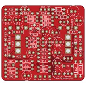 Univox Superfuzz DIY PCB - Rift Fuzz