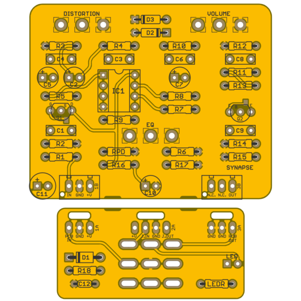 Synapse Resonant Drive - Systech Overdrive PCB