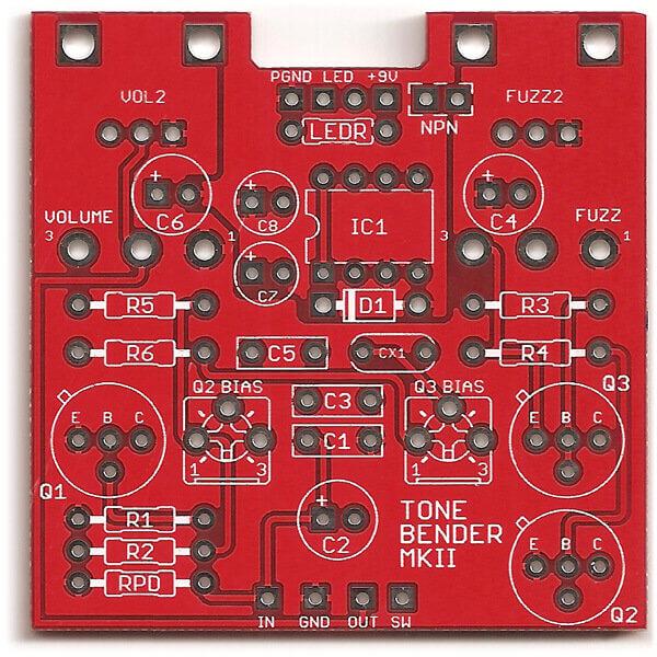 Tonebender Mk II DIY PCB