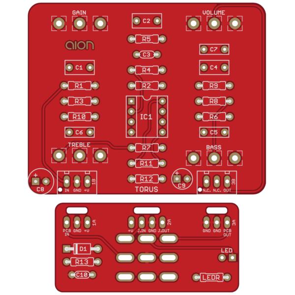 Torus Lo-Fi Fuzz printed circuit board