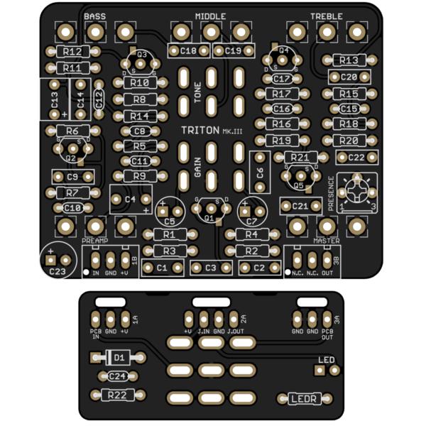 Triton Preamp Drive Mk. III PCB