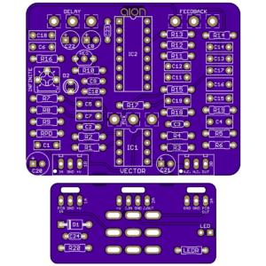 Vector - Deep Blue Delay DIY PCB
