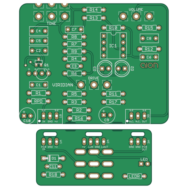 Viridian Dynamic Overdrive printed circuit board