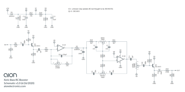 Xotic Bass RC Booster Trace Schematic